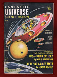 Five 1957 Science Fiction Periodical Covers, from the Collection of Max Miller. Fantastic Universe Science Fiction; The Original Science Fiction Storie; Other Worlds Science Stories. Sci-Fi, UFOs, Ephemera