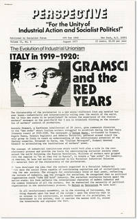 """Perspective: """"For the Unity of Industrial Action and Socialist Politics!"""" Vol. II, no. 8, August, 1977"""