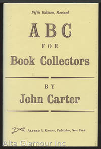 ABC FOR BOOK COLLECTORS by  John Carter - Hardcover - Twelfth Printing - 1991 - from Alta-Glamour Inc. (SKU: 19753)