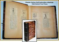 Album of Mounted Chester Horton Newspaper Clippings from 1920s Golf Lesson Columns c1924