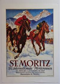 St. Moritz XVI. Internationale Pferderennen  (Offset Reproduction Lithograph Poster)