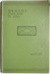 The State Of England In 1685 the Third Chapter of Macaulay's History