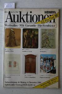 Auktionen November 1985 : Kat.nr. 2785 : Teppiche & Pelze, Gemâlde &  Grafik, Wertpapiere, Briefmarken, Varia & Antiquitäten, Puppen & Spielzeug.