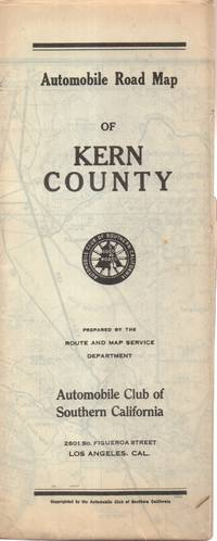 Automobile Road Map of Kern County California