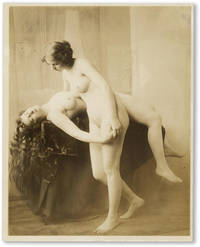 19th Century Erotic Gravure of Two Nude Women