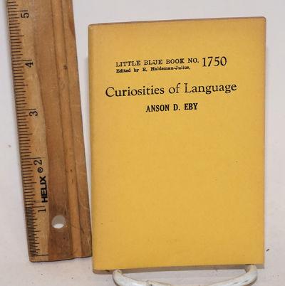 Girard: Haldeman-Julius Publications, no date. 55p., 5 x 3.5 inch stapled yellow wraps, mildly brown...