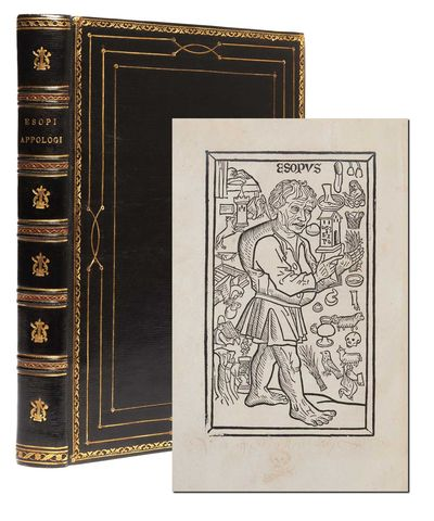 Basel: Jacob Wolff of Pforzheim, 1501. First edition thus. An early illustrated edition of Aesop's F...