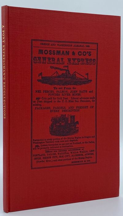 : Champoeg Press, 1955. 55pp. Octavo Red cloth with a Mossman & Co. advertisement printed in black o...