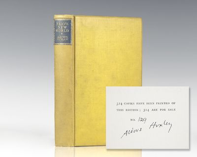 London: Chatto & Windus, 1932. Signed limited first edition of Huxley's masterpiece. Octavo, origina...