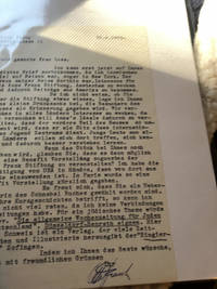 Typed Letter Signed by Otto Frank Hitler's Birth Anniversary