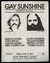 [Broadside]: Gay Sunshine: A Benefit Reading