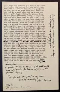 image of notes pour JAVA HEAD god kiss william burroughs amphetamine IBM -- Lettered Copy