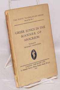 Greek Songs in the Manner of Anacreon
