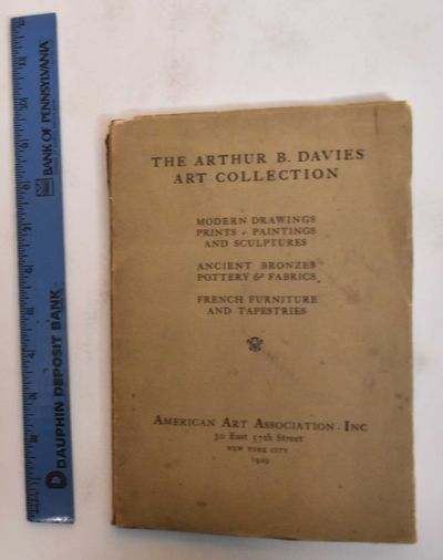 New York: American Art Association, 1929. Softcover. Good+, cover soiled prices realized written in ...