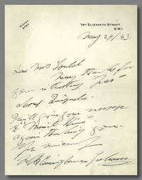 [Autograph Letter, Signed] by  R. B Cunninghame Graham - 1932 - from William Reese Company - Literature ABAA-ILAB (SKU: WRCLIT77168)
