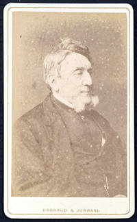 Carte-de-visite photograph portrait by Barraud & Jerrard, signed and dated by Taylor on the verso