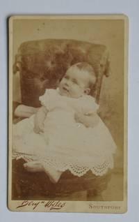 Carte De Visite Photograph. Portrait of a Young Child.