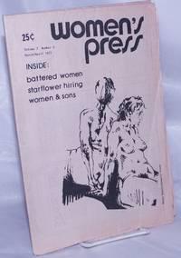 image of Women's Press: vol. 7, #2, March/April 1977: Battered women, Starflower hiring, Women_Sons