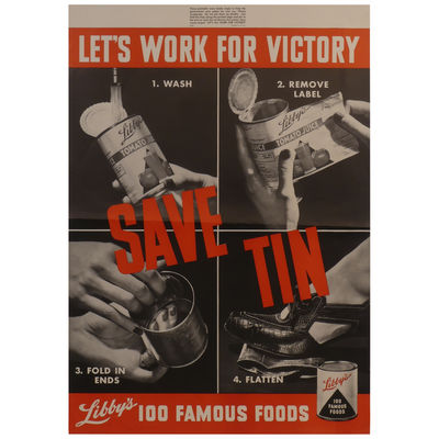 Save Tin: Let's Work for Victory