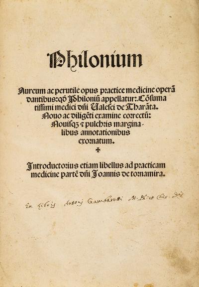 Philonium Aureum ac perutile opus...