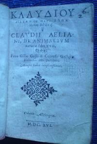 Claudii Aeliani, De historia animalium