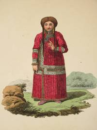 The Costume of the Russian Empire 1811. Original Hand Coloured Engraving by John Dadley (after Johann Gottlieb Georgi). Plate XXXII: A Katschintzian Tartar Woman [Krasnoyarsk]