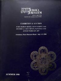Sale 1-3 July 1990: Judaica Rare Books, Manuscripts, Documents and Jewish  Works of Art.