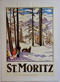 St. Moritz  (Offset Reproduction Lithograph Poster)