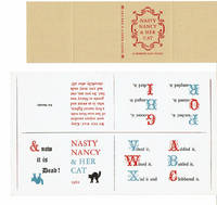 image of NASTY NANCY_HER CAT. A Horrid ABC Book. [THE PRINTER'S ORIGINAL FULL UNCUT SHEET_COVERS FOR THIS CHILDREN'S FINE PRESS MINIATURE].