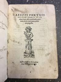 AESOPI PHRYGIS FABULAE GRAECE ET LATINE [BOUND WITH] GALEOMYOMACHIA, HOCEST, FELIUM & MURIUM PUGNA