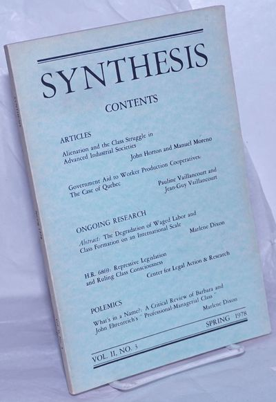 San Francisco: Synthesis / League for Proletarian Socialism, 1978. magazine. 89p., wraps, 5.5x8.5 in...