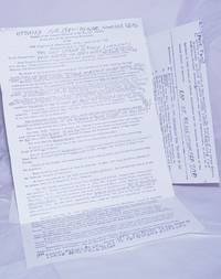 image of [Three documents with photocopied annotations from the group]