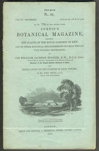 image of Curtis's Botanical Magazine, with 6 color engravings.   Third Series, No. 81, Vol. VII