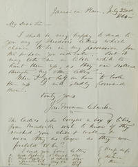 ALS. About Theodore Parker letters that he has and will send when found. At the bottom are enumerated 4 letters by Parker and their dates  that were found  which are to be sent on to the correspondent