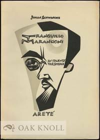 TRANQUILLO MARANGONI, AN ITALIAN WOOD-ENGRAVER by Schwencke, Johan - 1957
