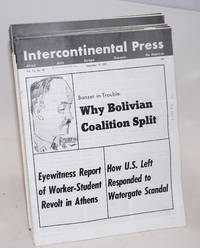 Intercontinental Press. Vol. 11, no. 1 (January 15, 1973) to vol. 11, no. 45 (December 17, 1973), missing two issues