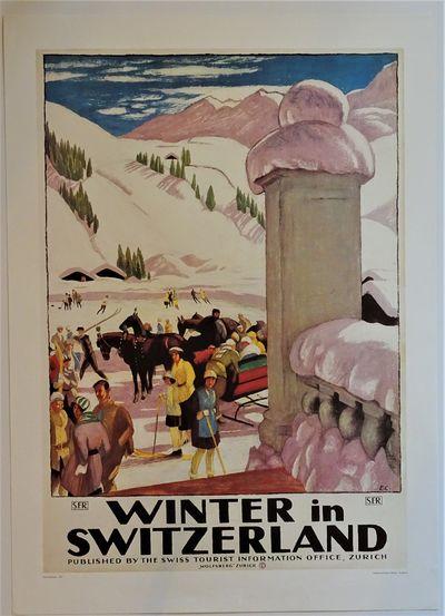 St. Moritz: Verlag Gammeter /Wetzel No date, circa 1980s reproduction of a classic 1921 Swiss travel...