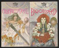 """The Eye of Time series:  # 1 - Crystal and Steel (with) # 2 - Bloodseed    (2 soft covers, book one & book two of """"The Eye of Time"""" series)"""