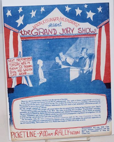 San Francisco: Bay Area Committee to Stop the Grand Jury, Irish Community Defense Committee, 1972. R...
