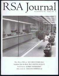 RSA Journal No. 5411 October 1990: The Journal of the Royal Society for the Encouragement of...