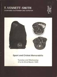 Sport and Cricket Memorabilia.  Tuseday and Wednesday 21st & 22nd March 1995