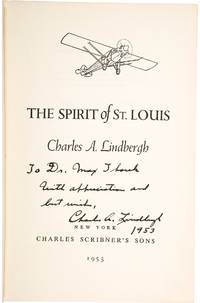 First Edition Signed Copy of Lindbergh's The Spirit of St. Louis