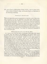 On the Change of Refrangibility of Light. No II (Philosophical Transactions of the Royal Society...