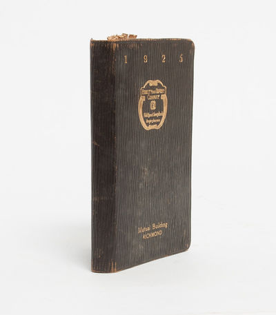 , 1925. One year diary bound by Fidelity and Deposit Company of Richmond. Comprised of 271 pages han...