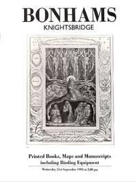 Sale 21 September 1994: Printed Books, Maps and Manuscripts, Incl.  Bindings Equipment.