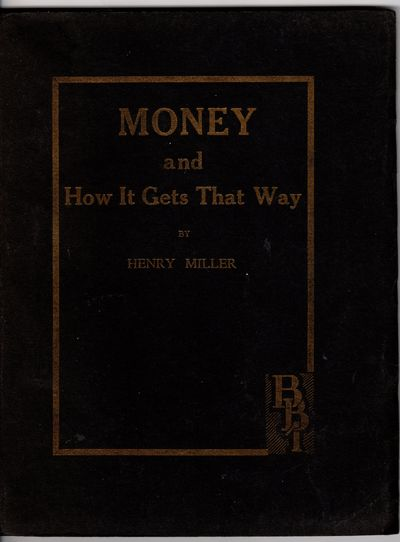 Money and How it Gets that Way.