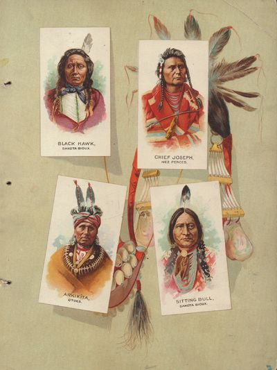 Richmond, Virginia: Allen & Ginter. Good. Disbound. Album of Native American Chiefs, published as an...