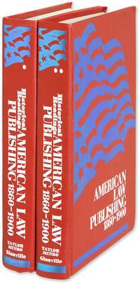 American Law Publishing 1860-1900: Historical Readings. 2 Vols