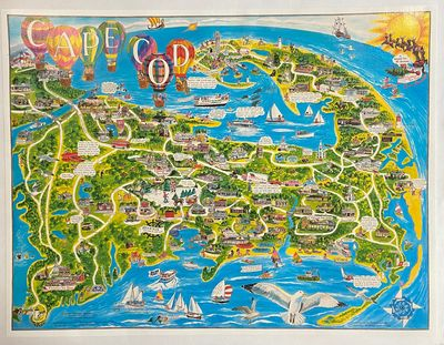 Jackson, NH: White Mountain Graphics, 1988. Color map. Mounted on linen. Image measures 24