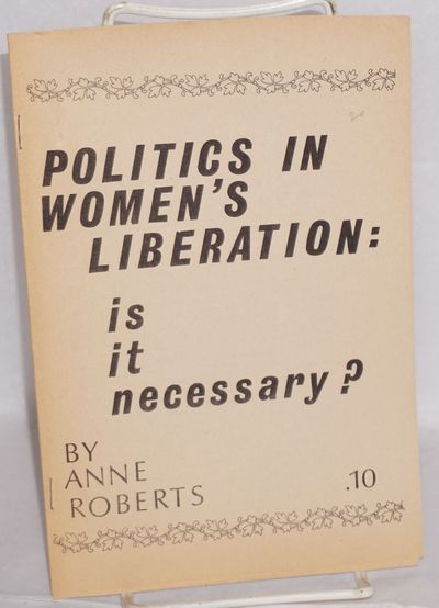 Vancouver: Vancouver Women's Caucus, 1970. 5p., very good in evenly toned wraps.